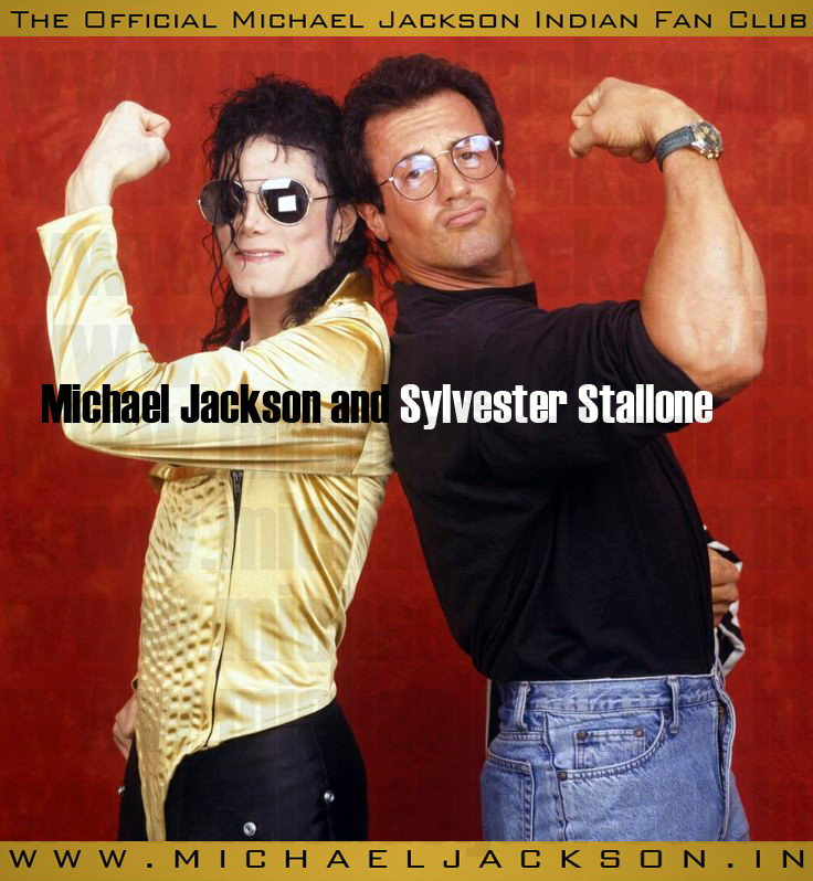 A rare picture of Michael Jackson and Sylvester Stallone