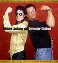 Michael Jackson and Sylvester Stallone